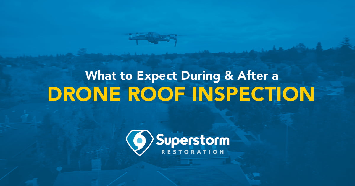 what to expect during and after a drone roof inspection