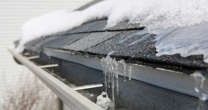 Winter effects on a roof